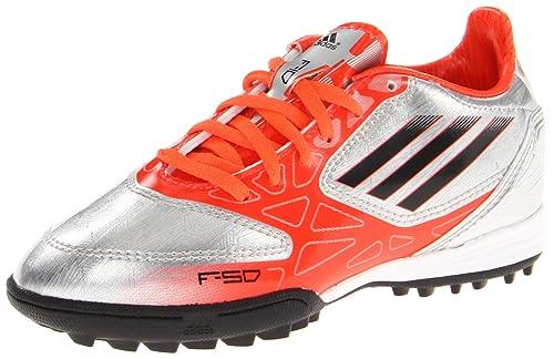 timeless design aeb2f 222fa adidas F10 TRX TF Soccer Cleat,Metallic Silver Infrared Black,5 M