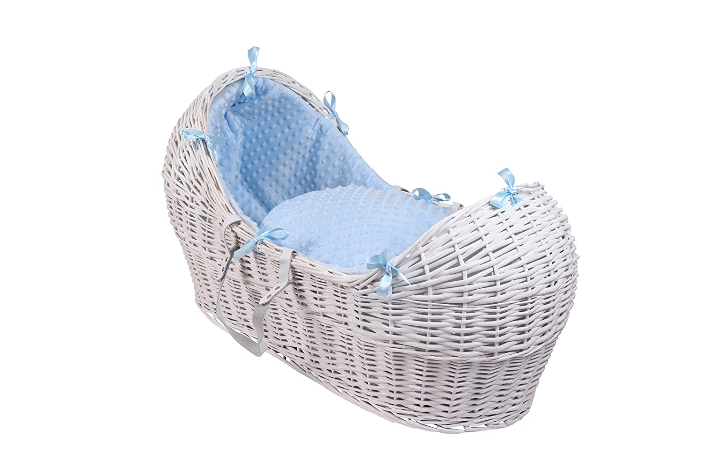 Dimple White Wicker Noah Pod - Blue Clair de Lune CL5537WB