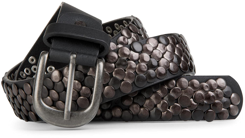 Stile breaker real stile Vintage in vera pelle con borchie gnaulm, accorciabile 03010043