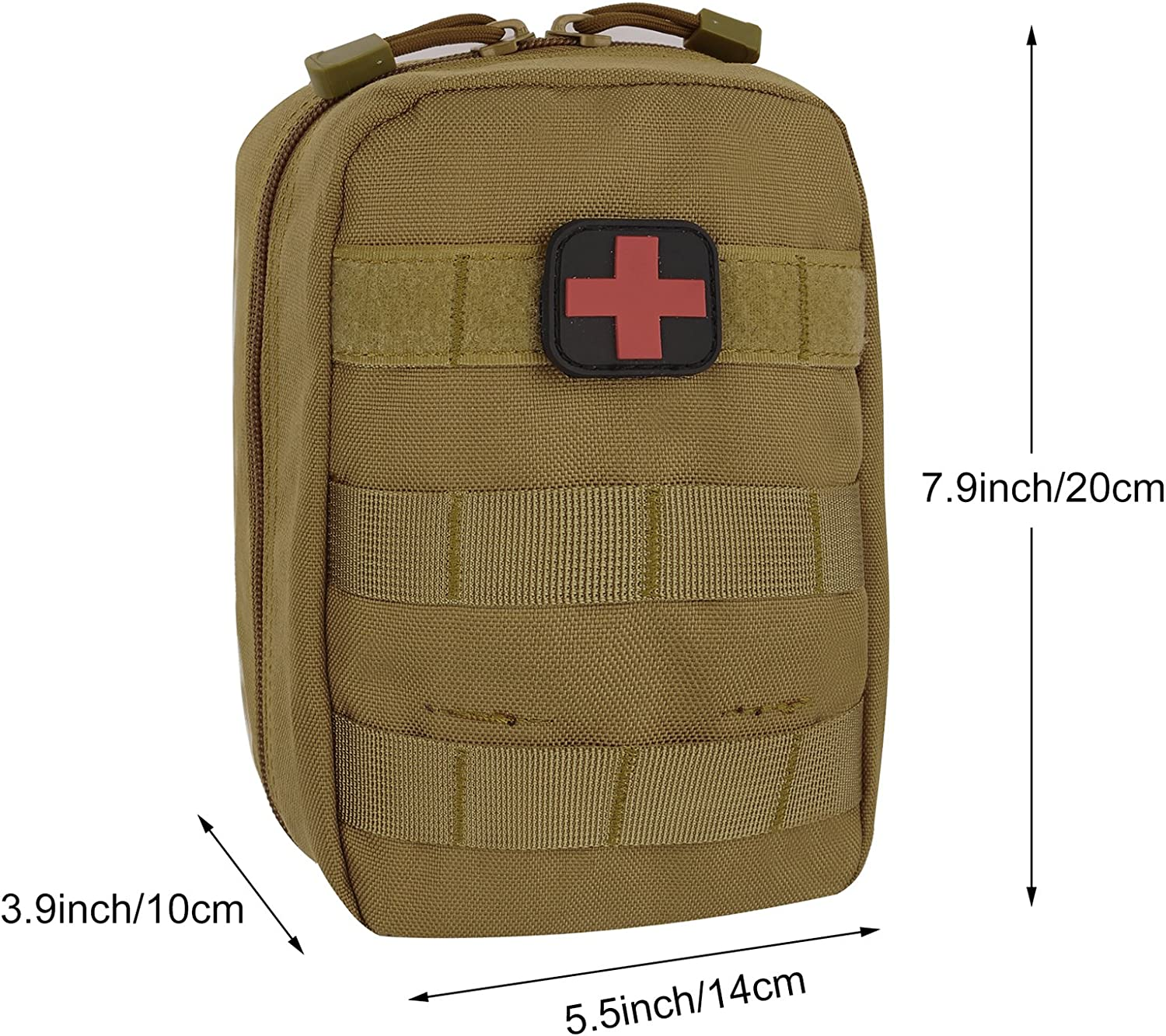 ArcEnCiel Tactical MOLLE EMT Medical First Aid IFAK Blowout Utility Pouch (Brown): Health & Personal Care