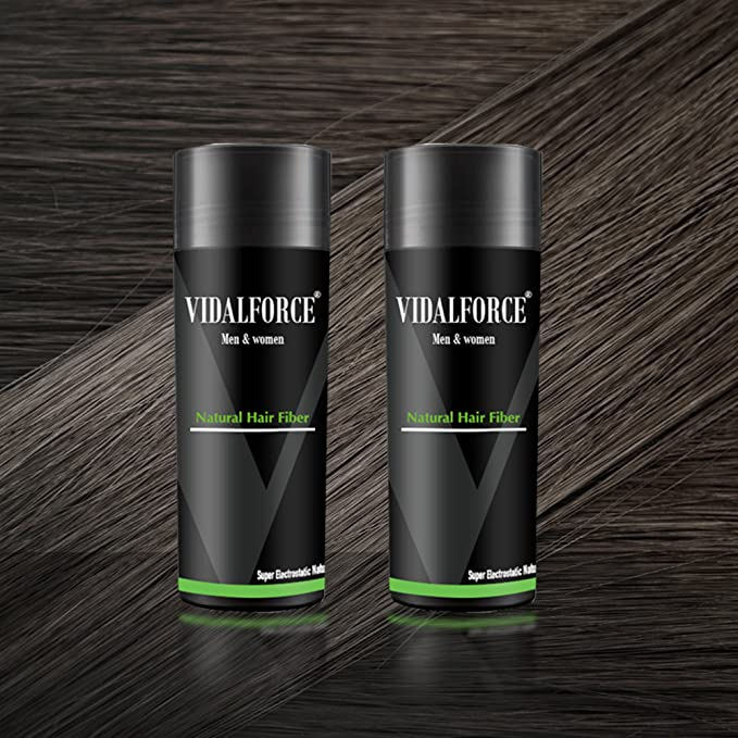 VidalForce Pack Fibras Capilares 2uds x 27,5g / Gris Oscuro /: Amazon.es: Belleza