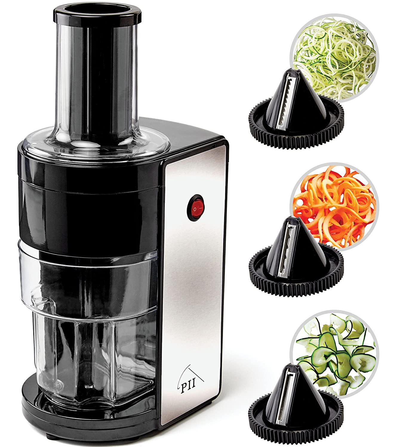 Electric Spiralizer with 3 Blades By PII