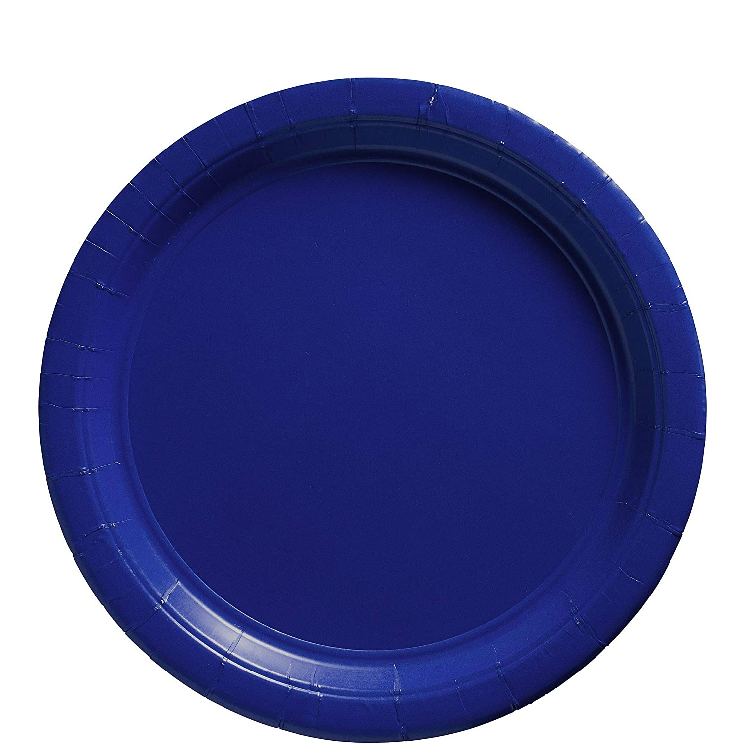 Amscan Bright Royal Blue Paper Plate Big Party Pack, 50 Ct.