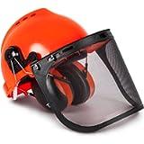 TR Industrial TR88011 Hard Hat Forestry Safety Helmet & Ear Muffs