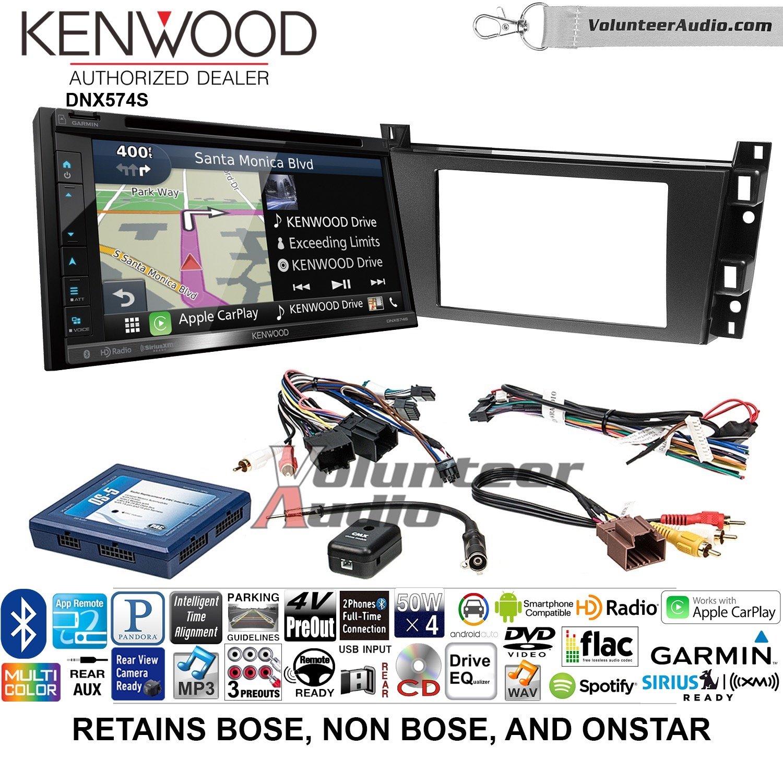 ボランティアオーディオKenwood dnx574sダブルDINラジオインストールキットwith GPSナビゲーションApple CarPlay Android自動Fits 2006 – 2010 Cadillac DTS B07C2CSFCR