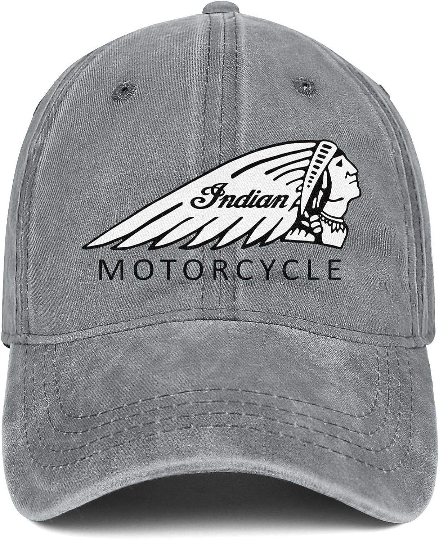 coolgood Snapback Womens Men Baseball Cap Indian-Motorcycles-logp Printed Denim Hats
