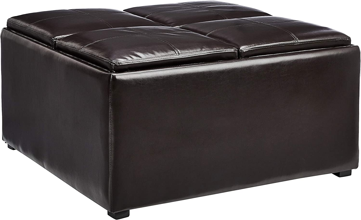 - Amazon.com: Red Hook Lyndale Square Coffee Table Storage Ottoman