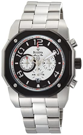 b703803dd Image Unavailable. Image not available for. Color: Bulova Men's 98B137 Marine  Star Silver White Dial Watch