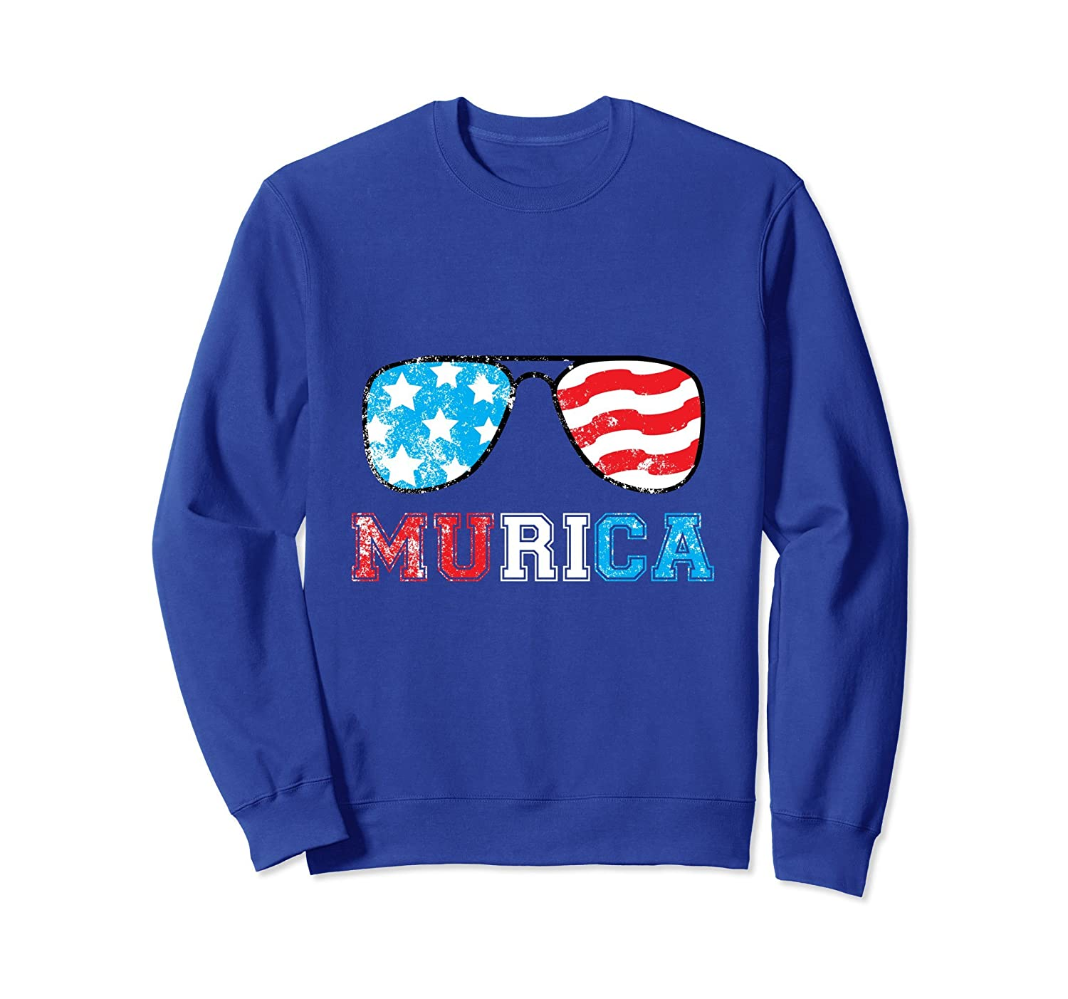 4th of July Independence Day Murica Distressed Sweatshirt-AZP