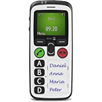 Doro Secure 580 SIM-Free 3G Simplified Mobile Phone for Elderly People with GPS Localisation and SOS Button (White)