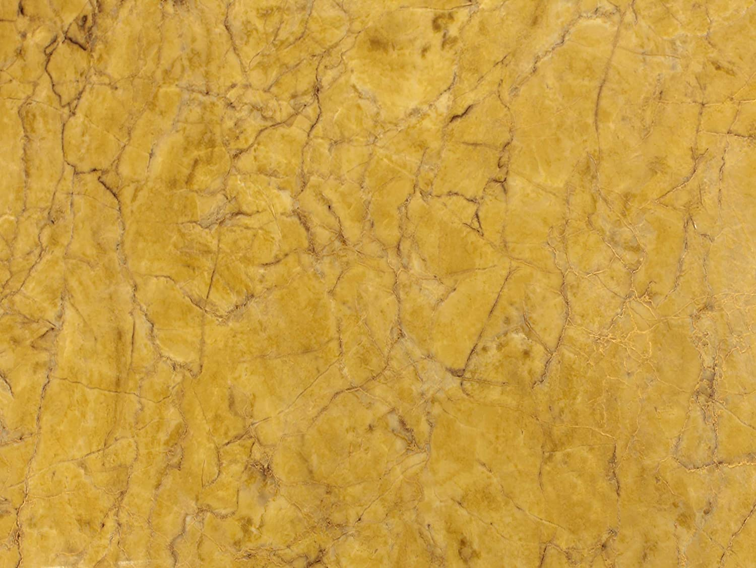16 Inch x 6.5ft VViViD Gloss Imperial Golden Marble Natural Texture Architectural Vinyl Film Roll