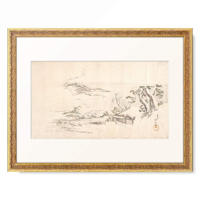 葛飾北斎 Katsushika Hokusai 額装アート作品 S(額内寸 255mm×203mm) 07.装飾額 19mm(ゴールド) B07PTZ6STH