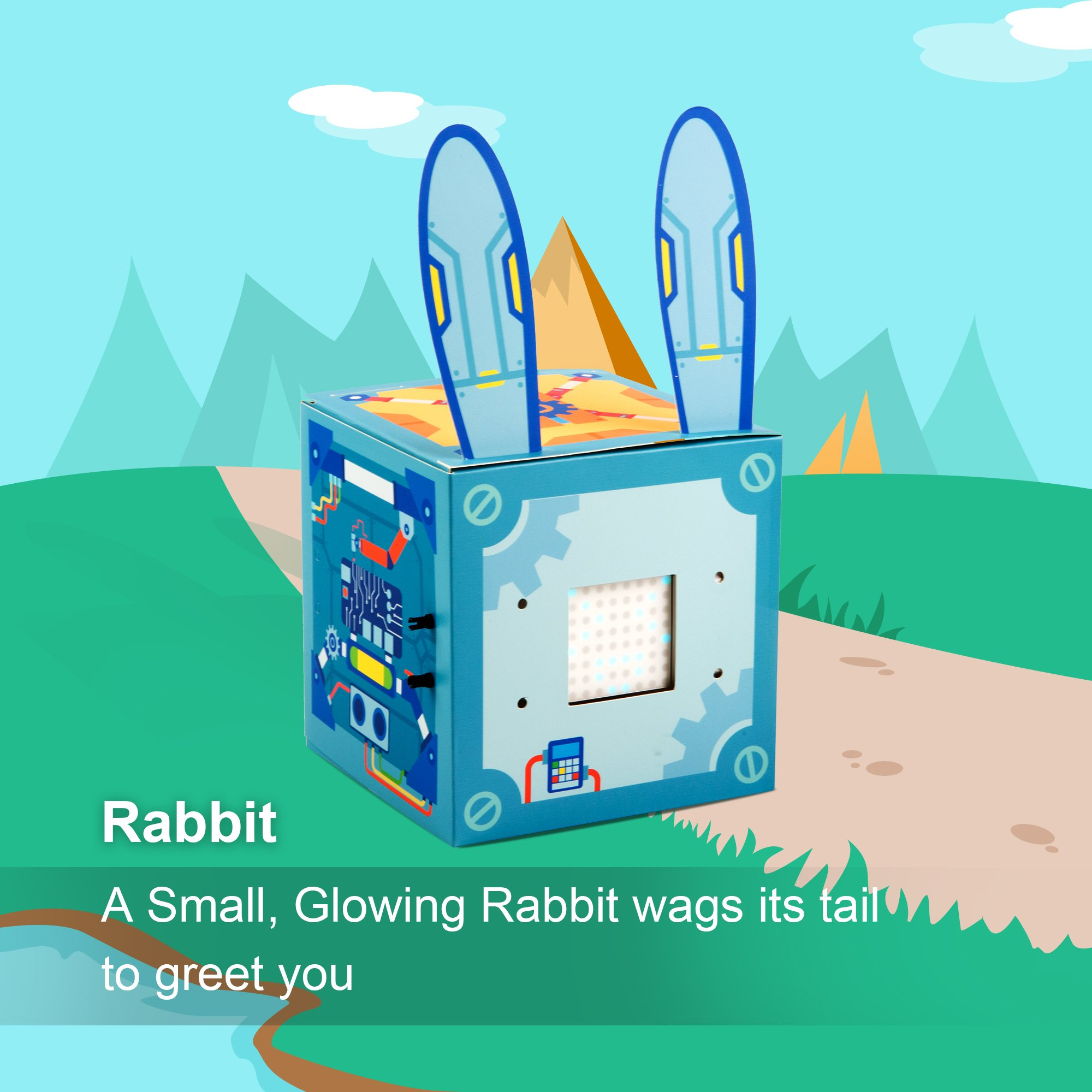 Makeblock Neuron Inventor Kit, STEAM Education, Graphical Programming, Magnetic Pogo Pins for 6 Year & up Kids+ with 6 Basic Blocks, Over 10 Kinds of Funny Robots, Like Rabbit,Dashing Raptor by Makeblock (Image #6)