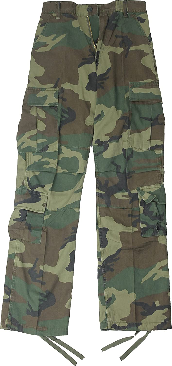 Amazon.com  Army Universe Woodland Camouflage Vintage Military BDU  Paratrooper Cargo Fatigue Pants  Clothing 207062d7657