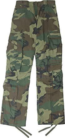 Army Universe Woodland Camouflage Vintage Military BDU Paratrooper Cargo  Fatigue Pants Size XS 15002198ee5