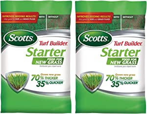 Scotts 21701 Turf Builder Starter New Grass Lawn Food, 1,000 sq. ft, 2 Pack, Limited Edition