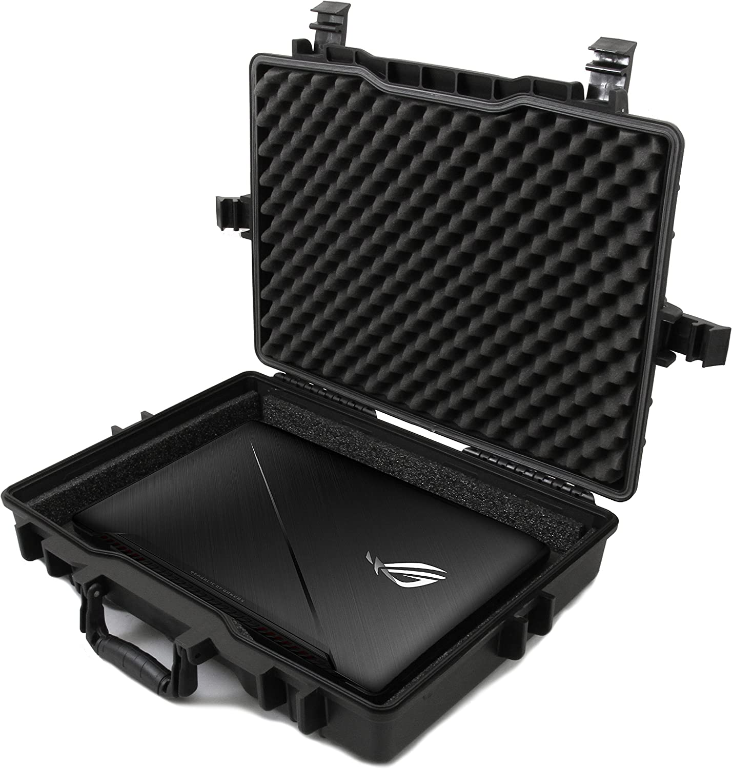 Casematix Custom Waterproof Laptop Case Compatible with Asus Republic of Gamers Gaming Laptops, Designed for Asus Rog Strix, Rog Zephyrus M, Asus Fx505, Asus Fx73ve or Asus Fx503vd and Accessories