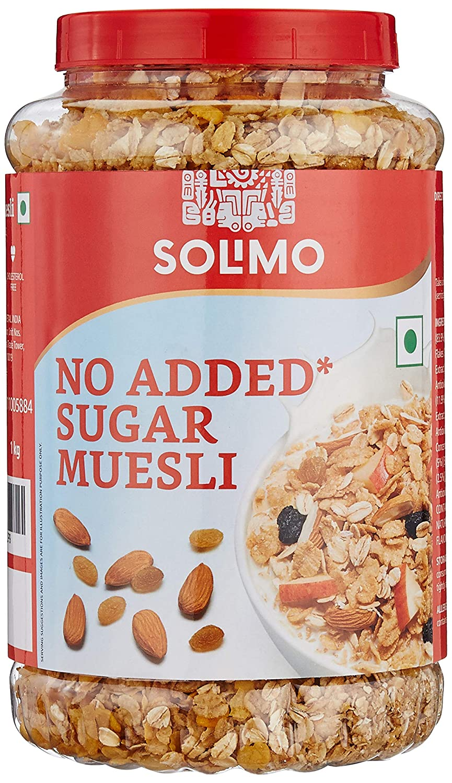 Amazon brand - Solimo No Sugar Muesli, 1kg