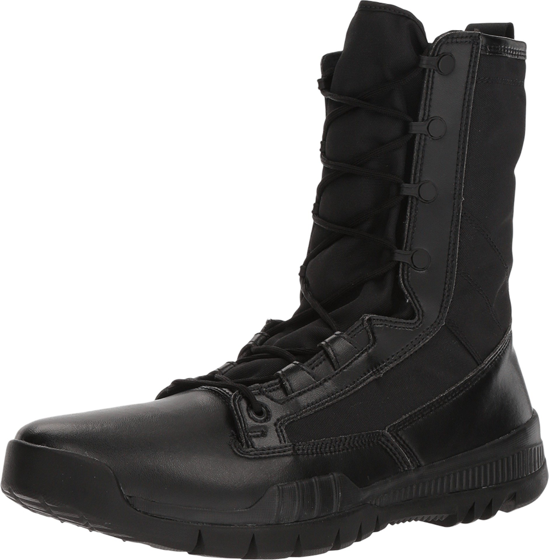 Nike SFB Field 8'' 631371-090 Black Men's Tactical Police Leather Boots (15) (15, Black/Black)