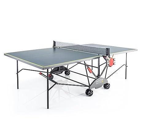 Kettler Tavolo Da Ping Pong Axos Outdoor 3resistente Alle Intemperie Pannello Leggero In Alluminio Colore Grigiogiallo