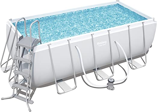 BESTWAY 8321295 PISCINA RECTANG C/HIDROBOM 412x201x122cm: Amazon ...