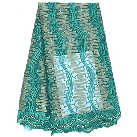 clovoice 5 m red de africano telas francés de Nigeria tela de encaje bordado para boda