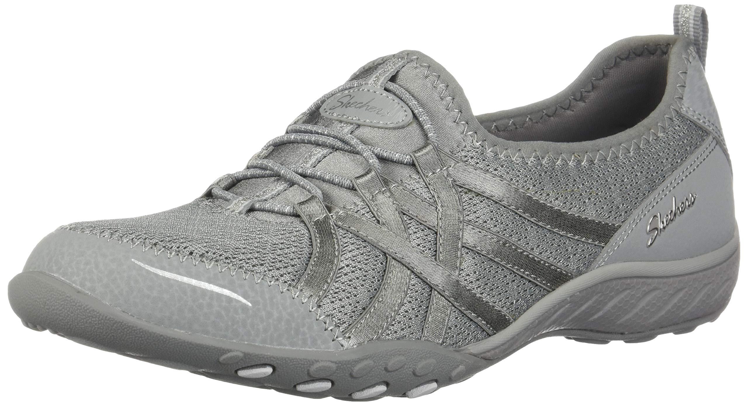 Skechers Women's Breathe Easy-Envy Me Sneaker Grey 5 M US