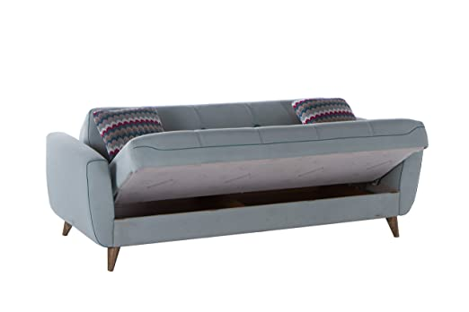 ISTIKBAL Multifunctional Furniture NORA Collection Light Blue SOFA SLEEPER