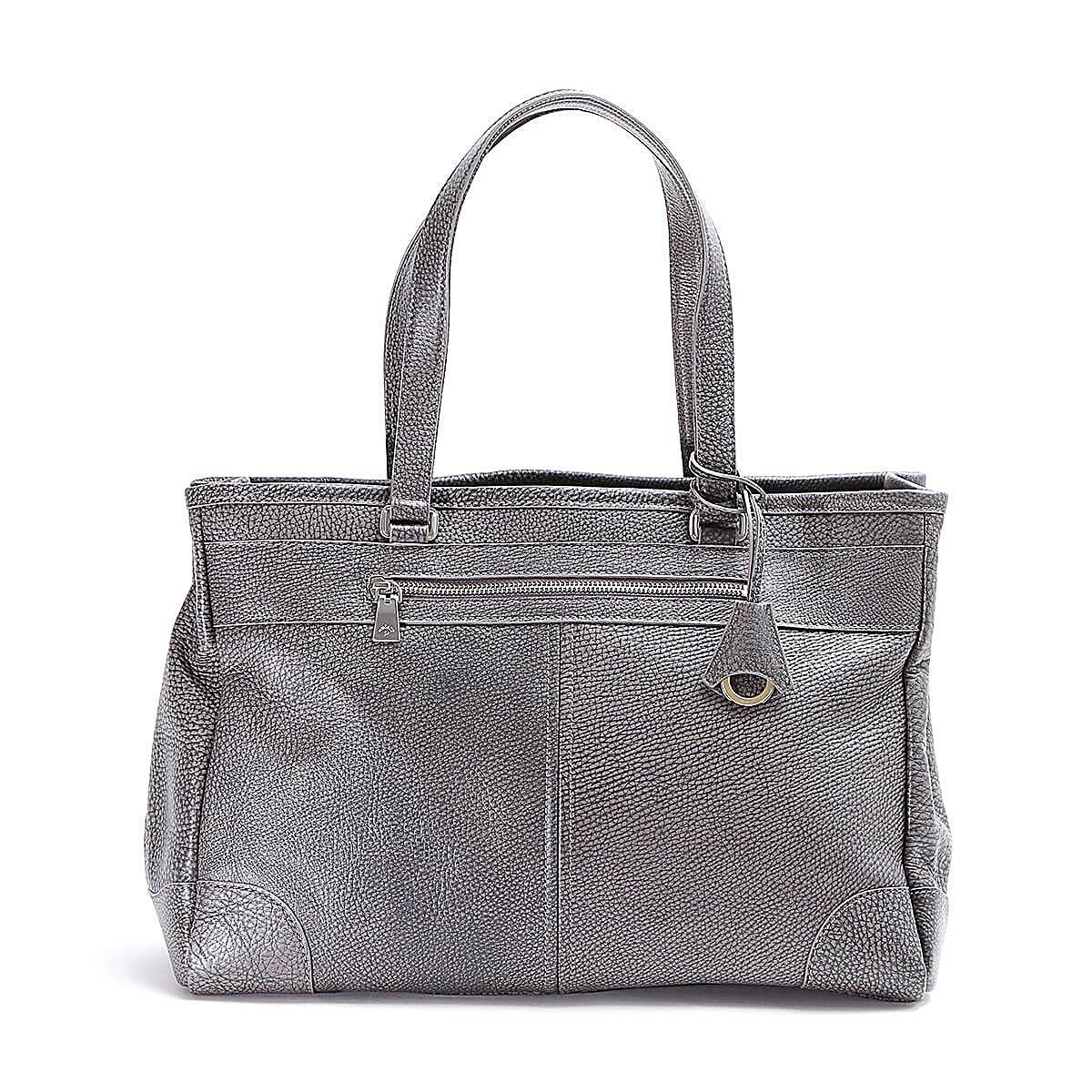 アニアリ トートバッグ Grind Leather 15-02000 B07DT2DP7L グレー グレー