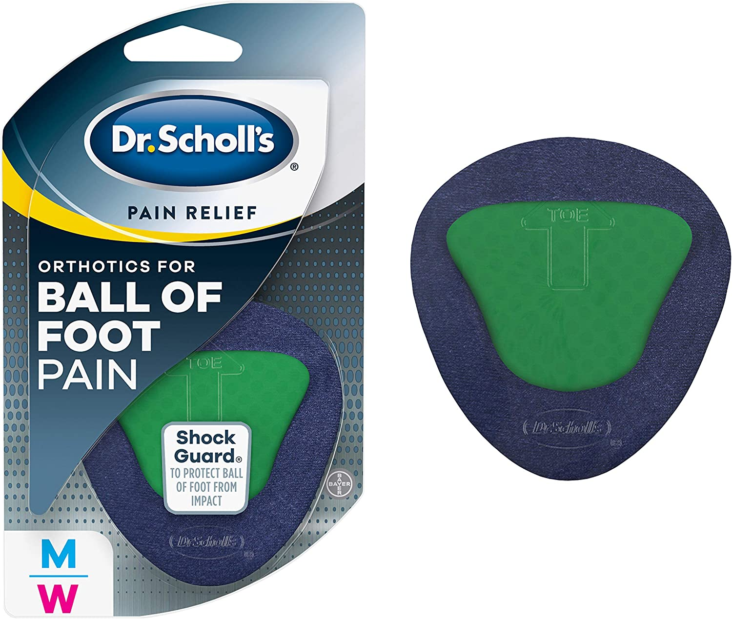 Dr. Scholl's BALL OF FOOT Pain Relief Orthotics (One Size) // Clinically Proven Immediate and All-Day Relief of Ball-of-Foot Pain by Lifting and Reducing Pressure on Metatarsal Bones