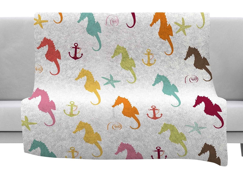 Kess InHouse afe Images Seahorse Pattern Teal Blue Illustration 30 x 20 Pillow Sham