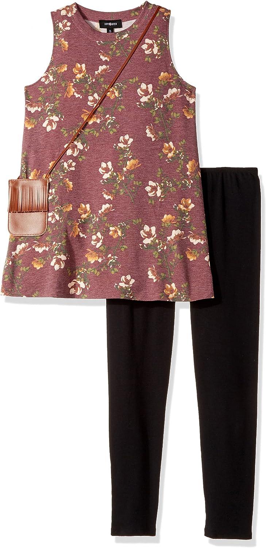 Amy Byer Girls Big Print Knit Sleeveless Legging Set 2040N9T