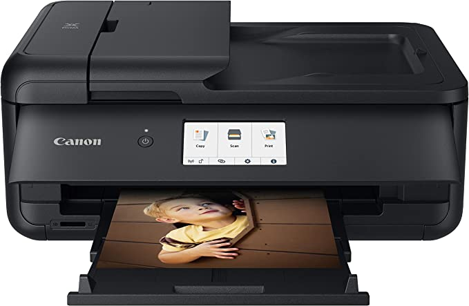 Canon PIXMA TS9520 All In one Wireless Printer For Home or Office  Scanner   Copier   Mobile Printing with AirPrint and Google Cloud Print, Black, Works with Alexa