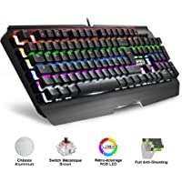 EMPIRE GAMING - Clavier Gamer LED RGB Empire K2100 - Touches mécaniques Switch Marron - Full Anti-Ghosting et NKRO 6 Touches : 9 Modes prédéfinis + 8 Modes Player + 2 Modes Personnalisables