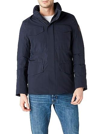 bc18572b236 Napapijri veste homme à capuche N0YHTO176 ALCAMO XL Blu  Amazon.fr ...