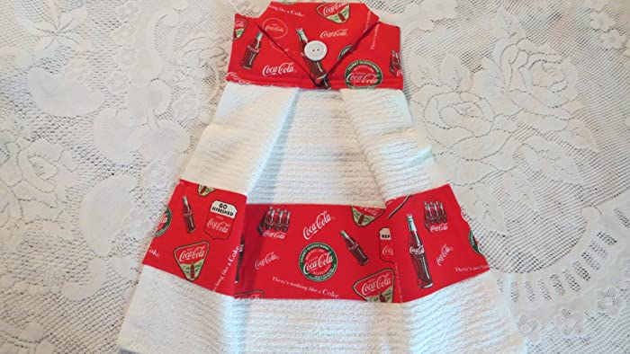 Coke Cola Kitchen Towel Handmade Dish Towels