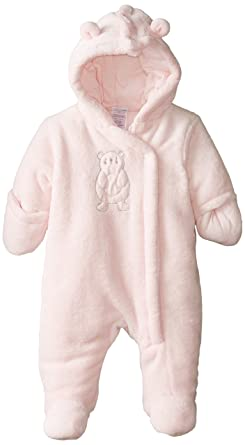 Amazon Com Absorba Baby Girls Newborn Fuzzy Plush Snowsuit Clothing