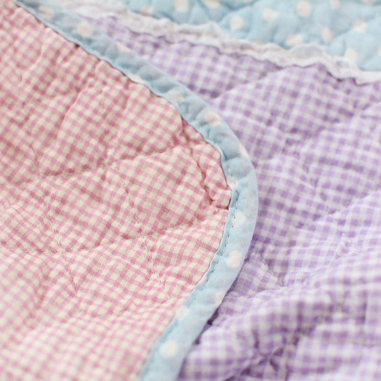 Brandream Queen Size Patchwork Quilt Set Girls Rustic Style Summer Quilts 3pcs