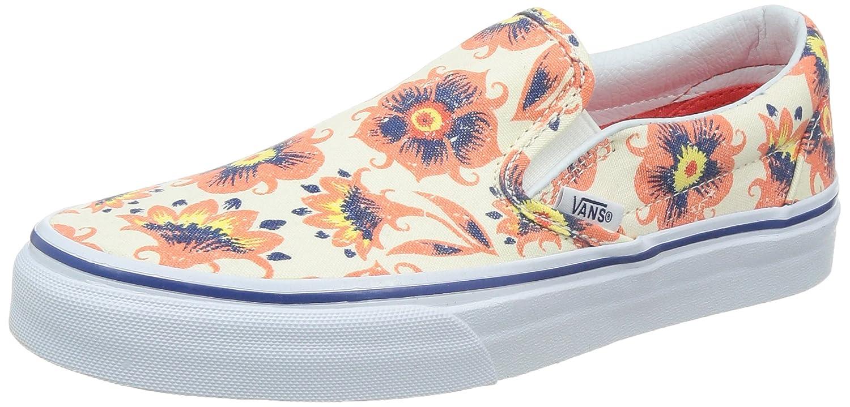 Vans U Classic Slip-on, Unisex-Erwachsene Sneakers  EU 36 (US 4.5)|Wei?/Orange