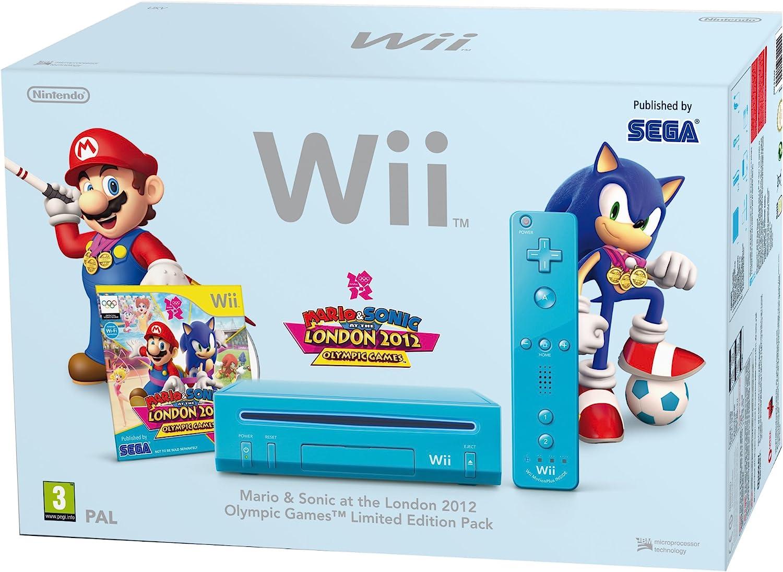 Nintendo Wii Mario & Sonic Pack - juegos de PC (Wii, 512 MB, IBM PowerPC, SD, 802.11b, 802.11g, Azul): Amazon.es: Videojuegos