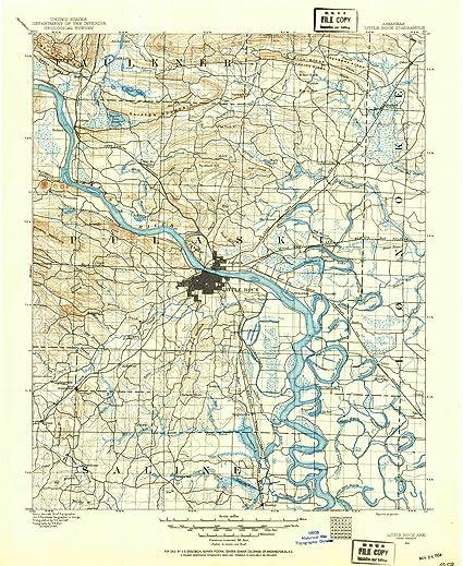 Amazon.com: YellowMaps Little Rock AR topo map, 1:125000 ...