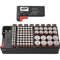 Batterijen Opbergdoos, Batterij opslag organizer case bevat 110 verschillende grootte batterijen voor AAA, AA, 9V…