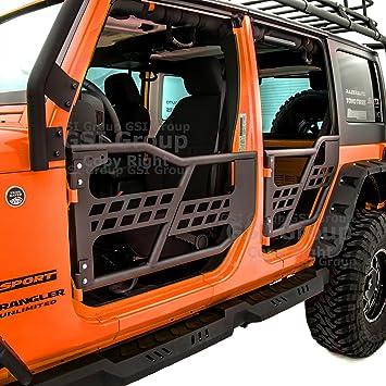 Amazon.com: GSI Rock Crawler Off Road Front+Rear Tubular Door (4 Door  Model) Without Mirror Textured Black For 07 18 Jeep Wrangler JK: Automotive