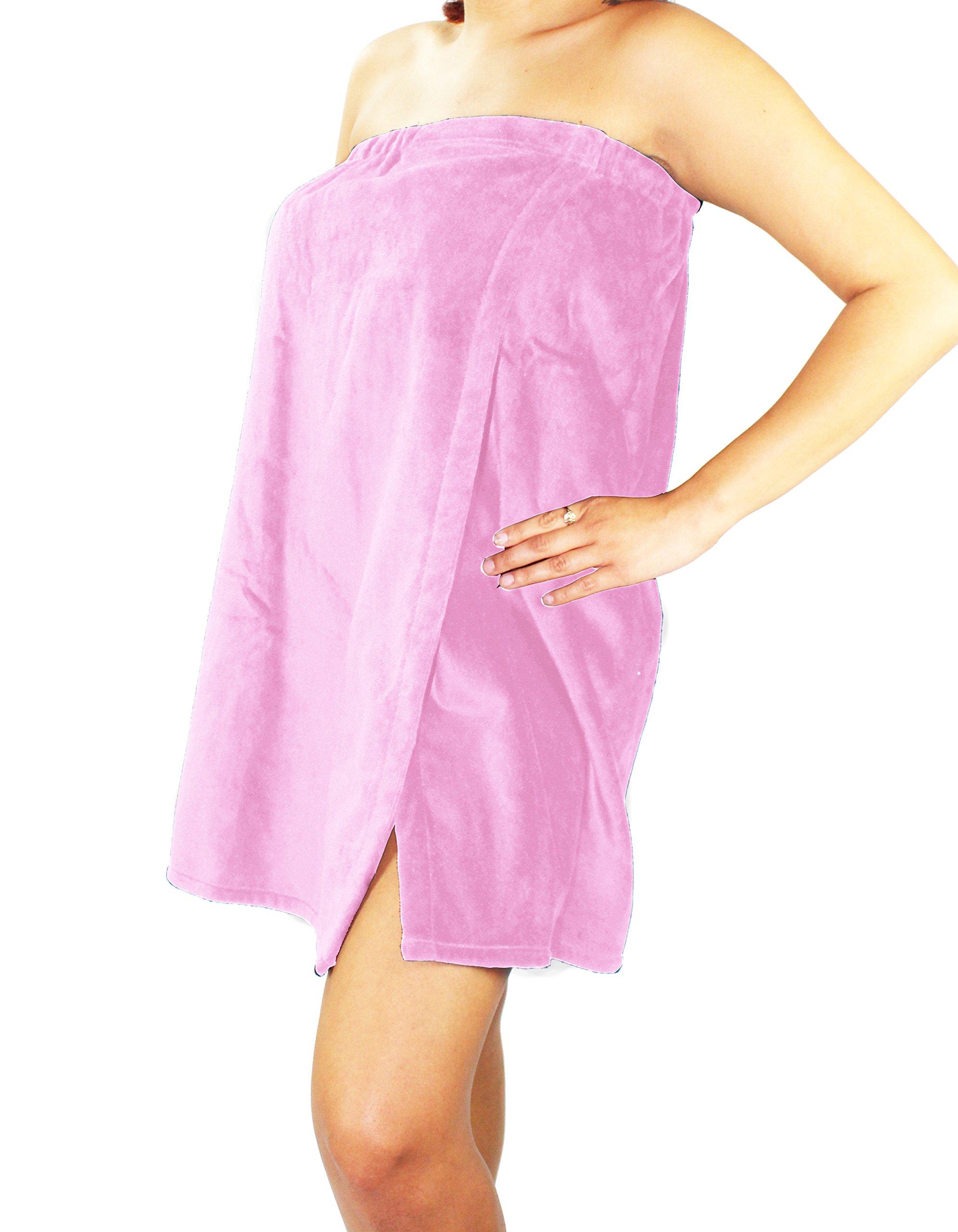 Sanders Classics 25'' Terry Towel Wrap - Light Pink