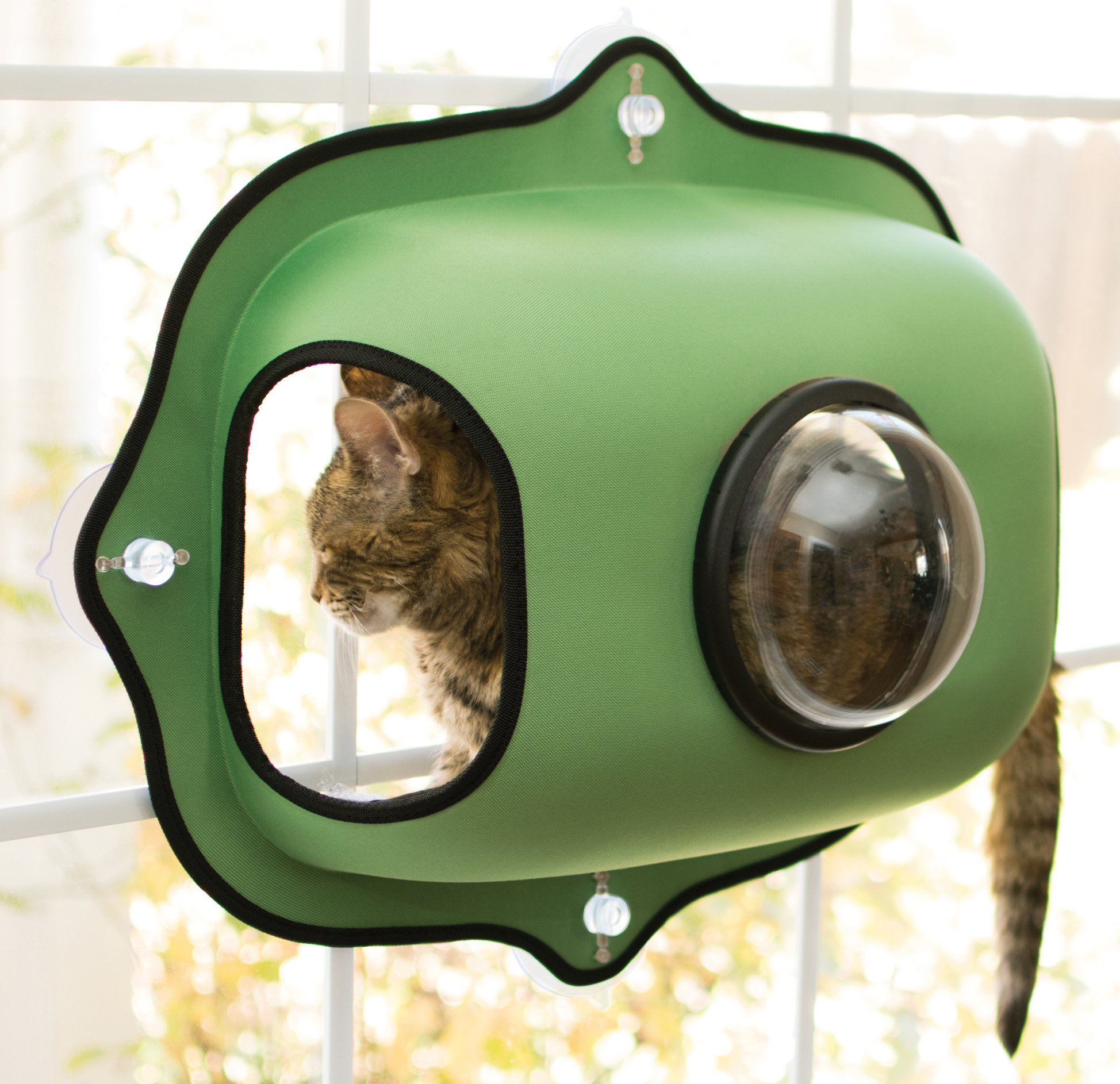 K&H Pet Products EZ Mount Window Bubble Pod Green 27'' x 20'' Kitty Sill by K&H Pet Products (Image #1)