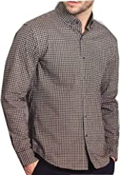 BC Clothing Mens Expedition Stretch Shirt (Red Black White, X-Large)