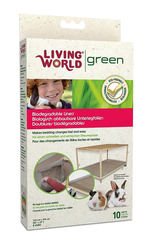 Living world Green Lot de 10 fonds de cage pour Moving Home 65082