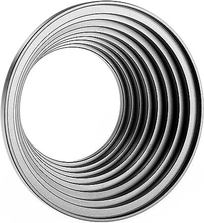 en tamaños de 8 Step Up anillo set