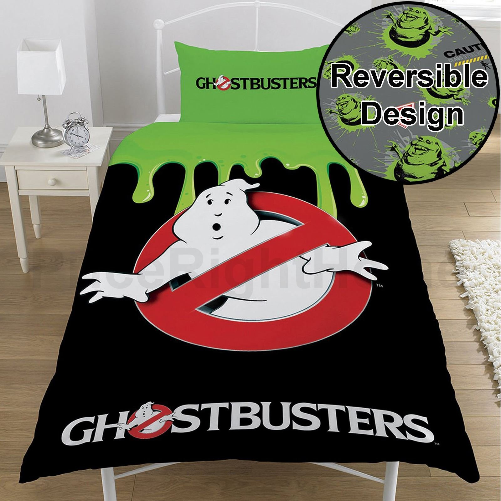 Ghostbusters Single/US Twin Duvet Cover and Pillowcase Set