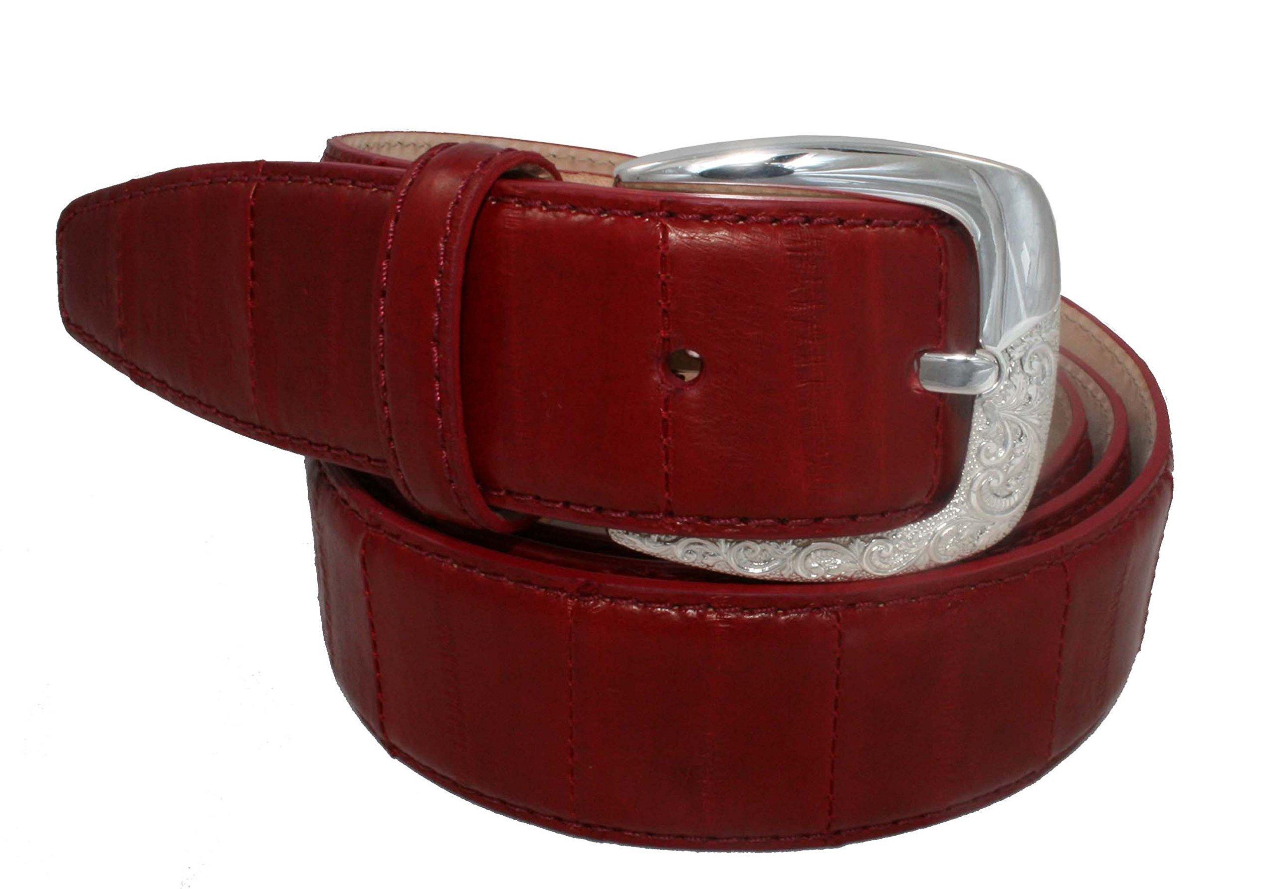 Belt Urso Luxury, buckle in Sterling silver and Eel Skin